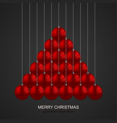 modern christmas balls creative background vector image