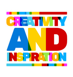 multicolor creativity and inspiration business vector image