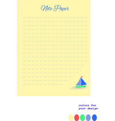 note paper writing paper designer paper vector image