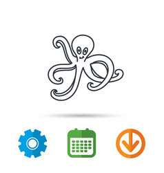 octopus icon ocean devilfish sign vector image