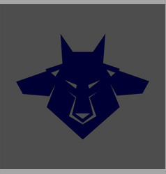 Pack of wolf heads vector