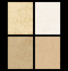 paper texture collection vector image