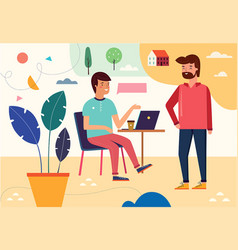 people at a business meeting vector image