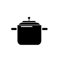 Pressure cooker - pot thermo icon vector