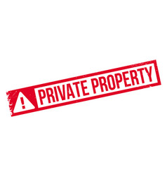 Private property rubber stamp vector