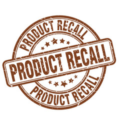 Product recall stamp vector