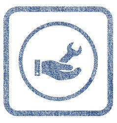 repair service fabric textured icon vector image