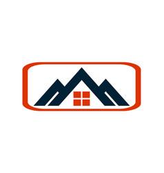 residence home estate house logo icon vector image