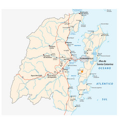 road map metropolitan area florianopolis brazil vector image