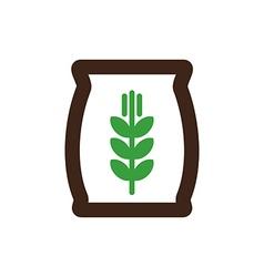 Sack of grain icon Farm vector image