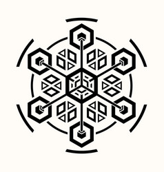 sacred geometry 0071 vector image