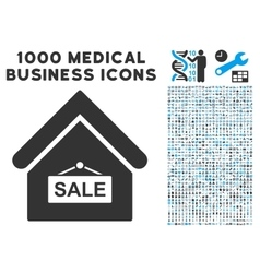 Sale building icon with 1000 medical business vector