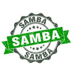Samba stamp sign seal vector