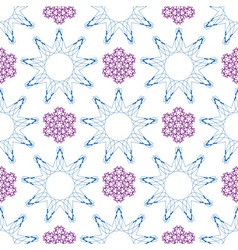 Seamless of ornament like violet lilacs and blue n vector