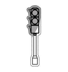 Semaphore traffic light post pedestrain vector