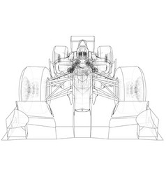 Sport race car abstract drawing tracing vector