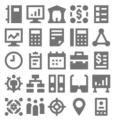 Teamwork Organization Icons 3 vector image