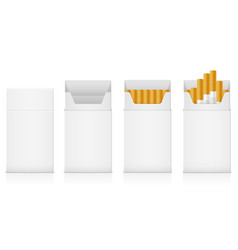 template pack of cigarettes with yellow filter vector image