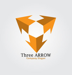 Three arrow vector