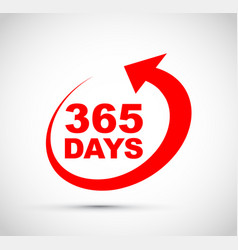 three hundred and sixty five days a year icon vector image