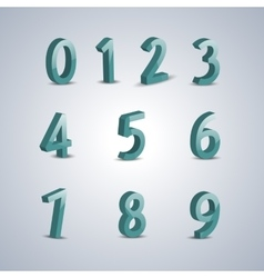 Volumetric numerals vector image