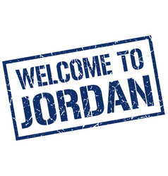 Welcome to jordan stamp vector