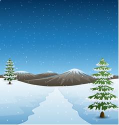Winter mountains landscape vector