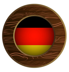 button with flag of germany vector image