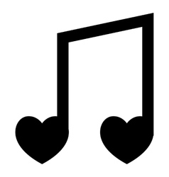 Love song icon simple style vector image