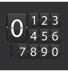 modern numeric scoreboard set vector image