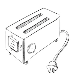 Retro old school toaster vector image vector image