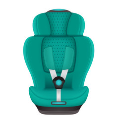 Baby car seat isolated on a white background vector