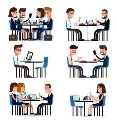 Business lunch break vector image vector image