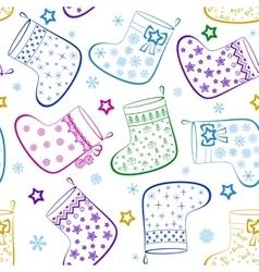Christmas Stockings Seamless vector image vector image