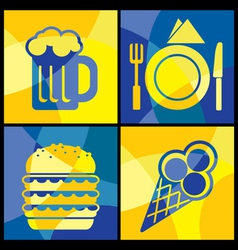 cofood color cross vector image vector image