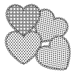 grayscale figures heart icon vector image vector image