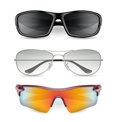 Man sunglasses set vector image