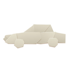 origami logistic paper car transport concept vector image