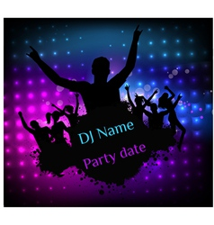 Poster template for disco party vector image vector image