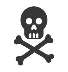 skull bones cross caution icon vector image vector image