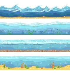 Water waves or ocean sea seamless vector image vector image