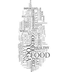 yoga diet text word cloud concept vector image