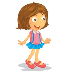 Cartoon Young Girl vector image vector image