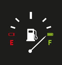 fuel gauge full tank indication vector image