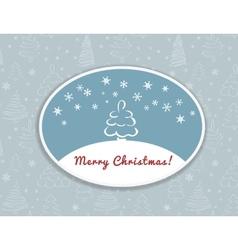 Merry Christmas postcard design vector image vector image