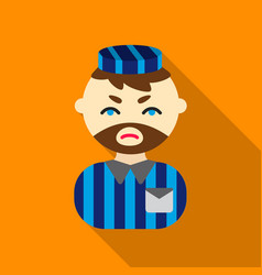 prisoner flat icon for web and vector image vector image