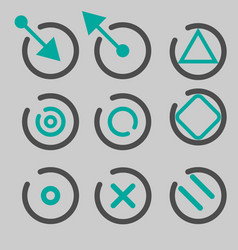 quote asterisk footnote icons hashtag social vector image vector image