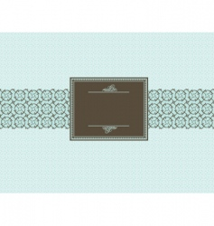 seamless pattern and brown frame vector image vector image