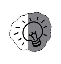 sticker sketch silhouette light bulb idea icon vector image vector image