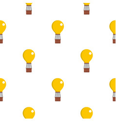 yellow air balloon pattern seamless vector image vector image